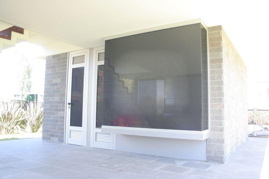 bigPaño fijo A30 New anodizado natural vidrio tonalizado gris oscuro
