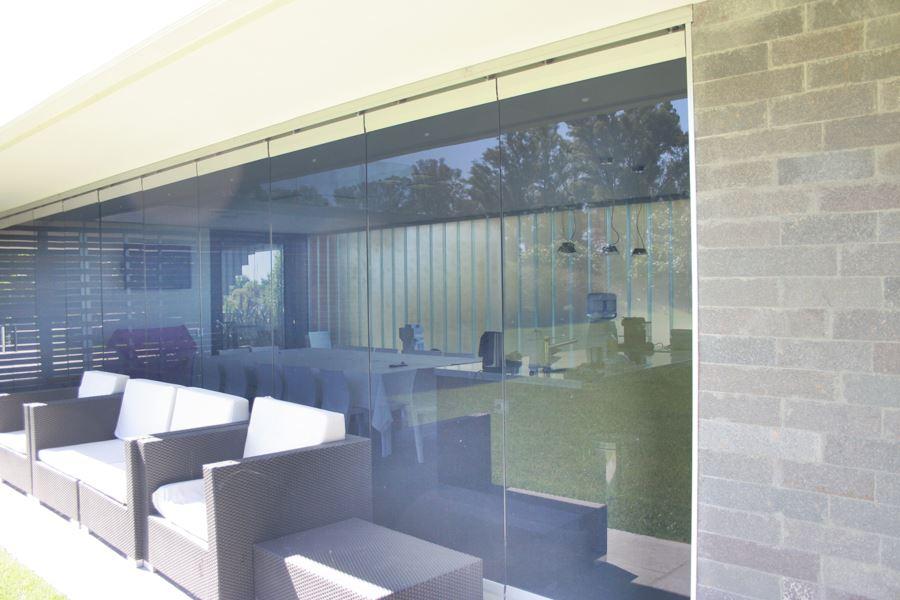 bigSistema Flex Front con vidrio 10mm. incoloro